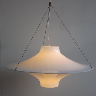 3 x Large Skyflyer hanging lamp by Yki Nummi for Sanka Finland, 1960s