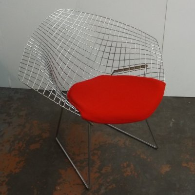 2 x Diamond lounge chair by Harry Bertoia for Knoll, 1960s