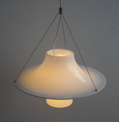 Small Skyflyer hanging lamp by Yki Nummi for Sanka Finland, 1960s