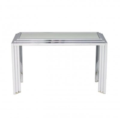 Chrome & Mirror Free Standing Console Table, France 1974