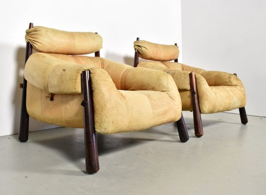 Pair of MP81 lounge chairs by Percival Lafer for Lafer, 1960s