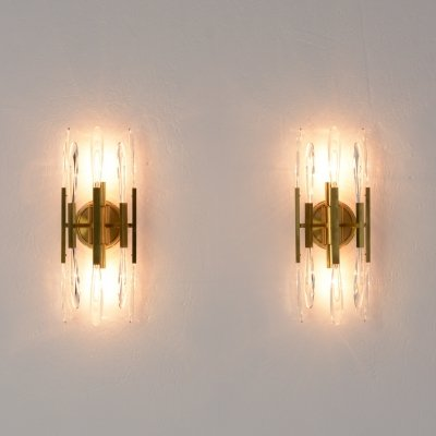 Pair of Brass Boulanger Wall Sconces, 1970s