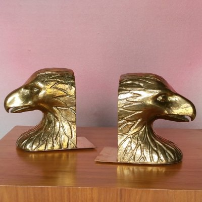 Set of 2 Spanish Brass Eagle Bookends from Valmazan, 1970s