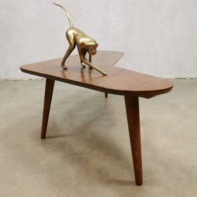 Vintage Dutch design boomerang coffee table by Bovenkamp, 1950s