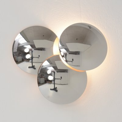 Reggiani Chrome Wall Lamp, 1970s