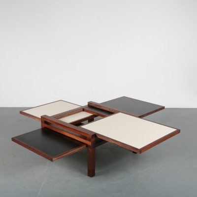 Versatile coffee table by Bernard Vuarnesson for Bellato, 1980s