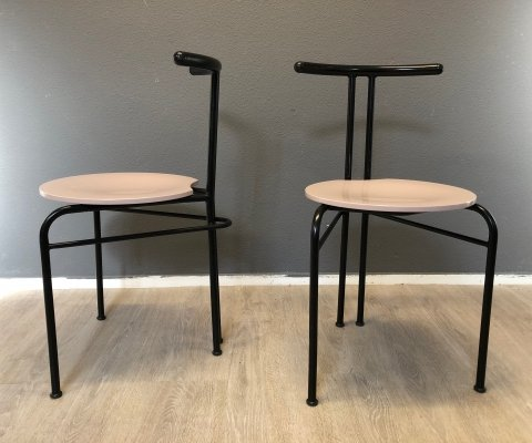 Pair of vintage dining chairs, 1980s