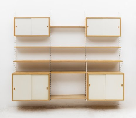 Floating wall unit by Nisse Strinning for String AB, Sweden 1960