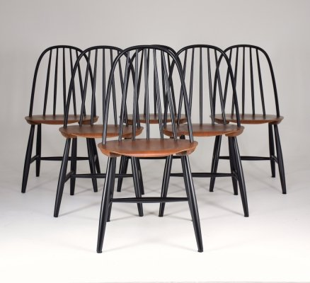 Set of 6 Scandinavian Mid-Century Dining Chairs by Hagafors, 1960's