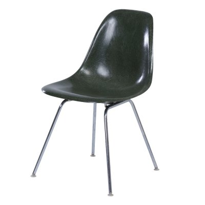 Green Fiberglass DSX Chair by Charles Eames for Herman Miller, 1970s