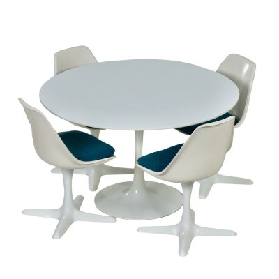Tulip Dining set by Maurice Burke for Arkana, 1960s