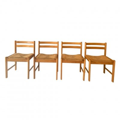 Set of 4 Asserbo dining chairs by Børge Mogensen, 1970s