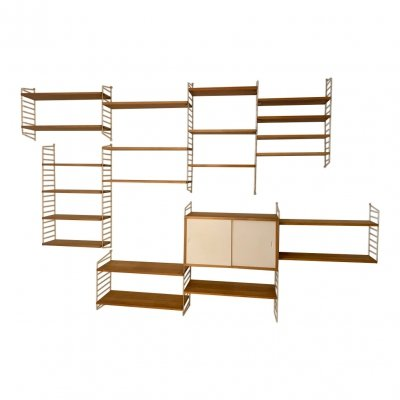 Wall unit by Nisse Strinning for String Design AB, 1950s