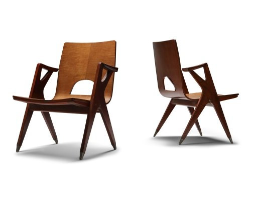 Pair of easy chairs by Ico Parisi for Malatesta & Mason, 1950s