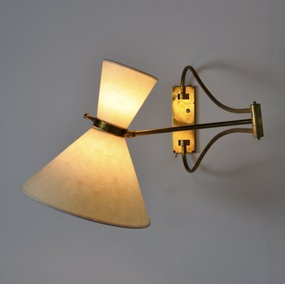 French Wall Lamp, 1960s
