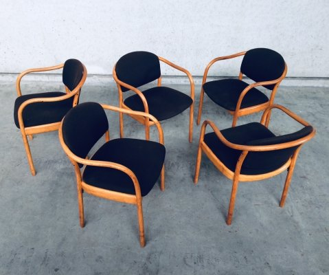 Set of 5 Model 82 dining chairs by Thonet, 1980s