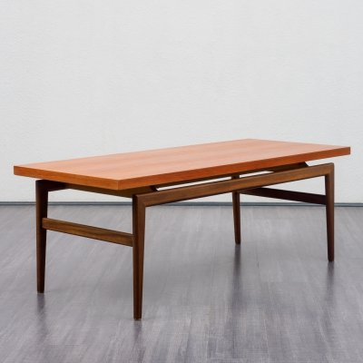 Teak coffee table in Scandinavian style, 1960s