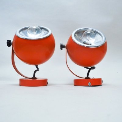 Pair of Philips wall lamps, 1970s