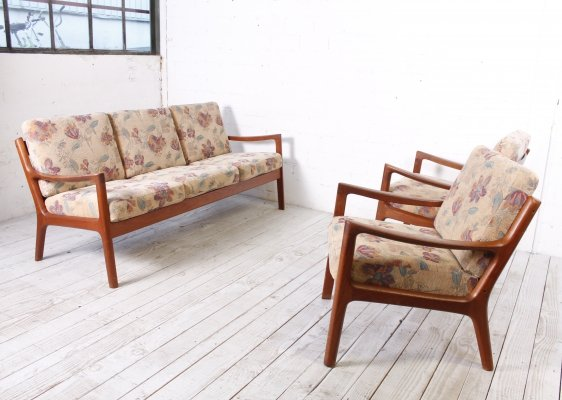 Senator Group (2 Easy Chairs, one Sofa) by Ole Wanscher for France & Son