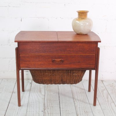 Small Teak Sewing Basket, 1960s