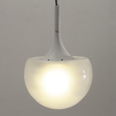 White pendant lamp by Elio Martinelli for Martinelli Luce, 1960s