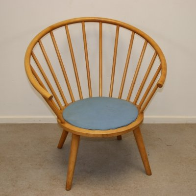 Rare Japanese chair handmade by Akitamokko, 1960s