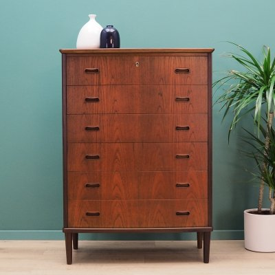 Mid century chest of drawers in teak, 1960s