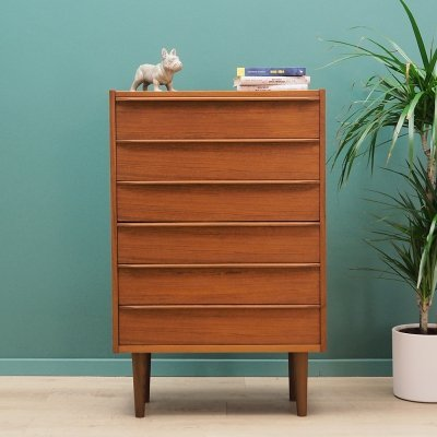 Chest of drawers in teak by Domino Møbler Denmark, 1970s