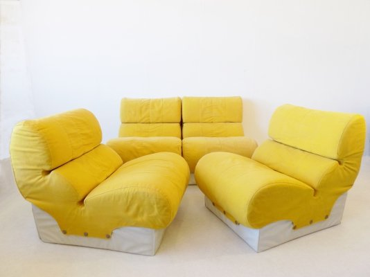 Set of 4 Softline lounge chairs by Otto Zapf, 1970s