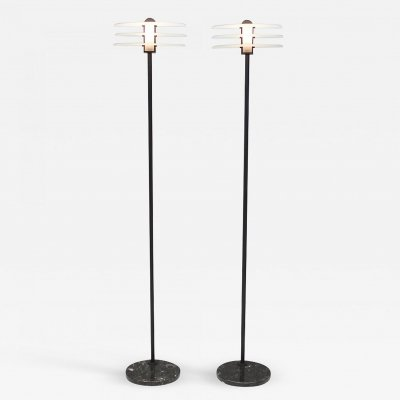 Pair of Tall Floor Lamps, Italy 1990s