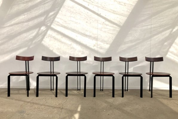 Set of 6 Harvink Zeta dining chairs, Dutch design 1980s