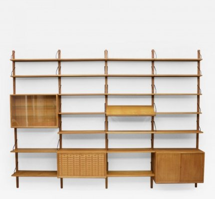 Large Teak Wall System by Poul Cadovius, Denmark 1956