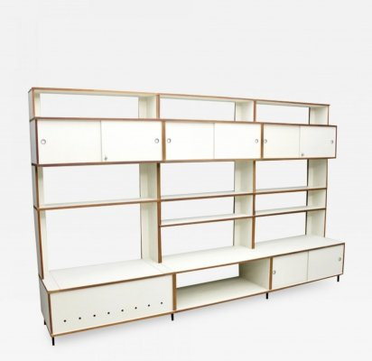Large Hans Gugelot Shelf System M125 by Bofinger, Germany 1956