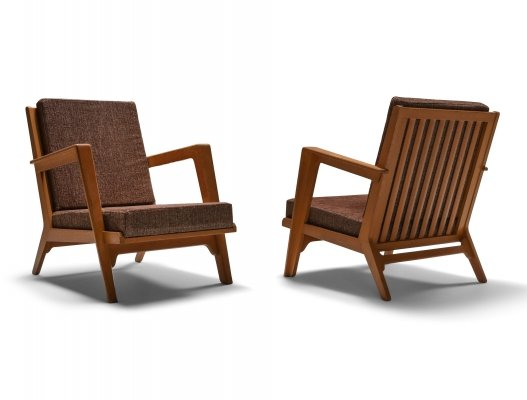 Modernist easy chairs by Elmar Berkovich, 1950's