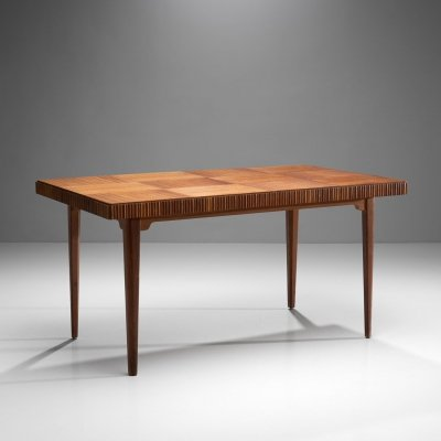 Wood Dining Table by Carl Axel Acking for Bodafors, ca 1940s-1950s