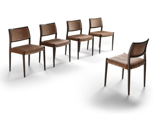 Set of 5 dining chairs by Niels Otto Møller for JL Møllers Møbelfabrik, 1960s