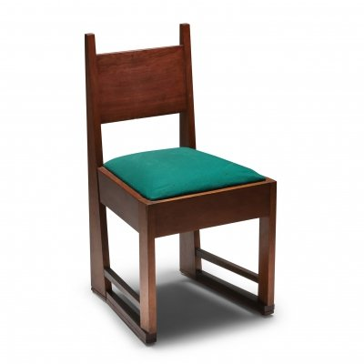 Early 20th-century Dutch design chair in solid mahogany, 1920s