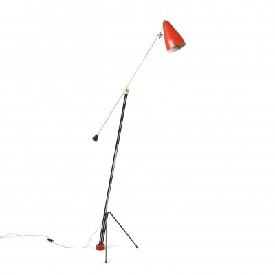 Grashopper floor lamp '6320' by Wim Rietveld for Gispen, 1950's