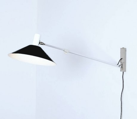 Rare model 7093 wall lamp by J Hoogervorst for Anvia, Netherlands 1960s