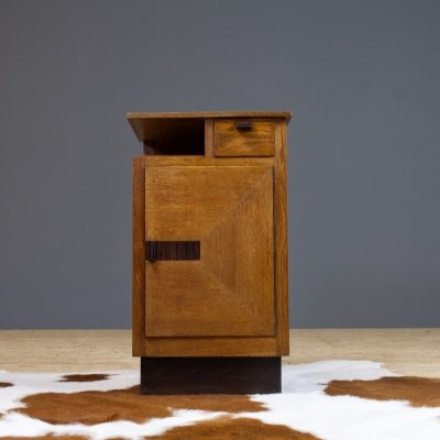 Art Deco solid oak storage by Hendrik Wouda for Pander Den Haag, 1930s