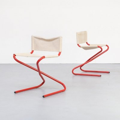 Foldable 'z-chair' by Erik Magnussen for Torben Orskov, 1960s