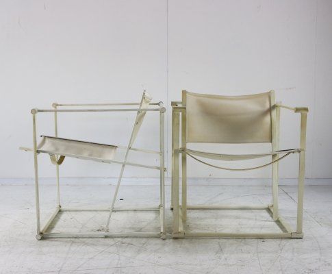 Pair of FM62 lounge chairs by Radboud van Beekum for Pastoe, 1980s