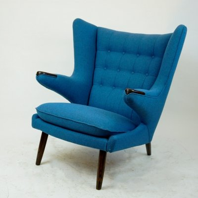 Danish Mod. AP19 Papa Bear Chair by Hans Wegner for A.P. Stolen