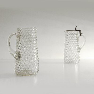 Pair of rostrato Glass carafes, 1930s