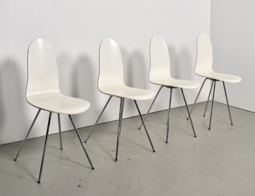 Set of 4 Tongue dining chairs by Arne Jacobsen for Fritz Hansen, 1990s