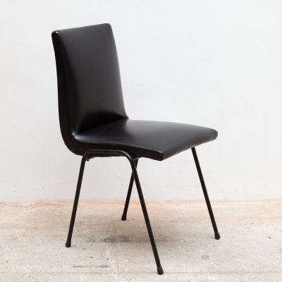 Black Dining chair by Pierre Guariche for Meurop, 1950s