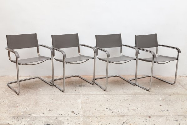 Set of 4 Cantilever S34 chairs by Mart Stam for Thonet, 1970s