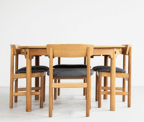 Midcentury dining set in oak by Børge Mogensen, 1960s