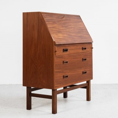 Midcentury Danish secretaire in teak by Vitré, 1960s