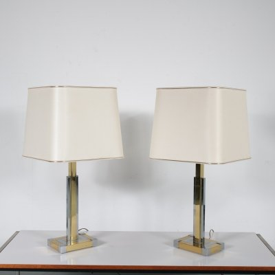 Pair of luxurious table lamps by Lumica, Spain 1970s
